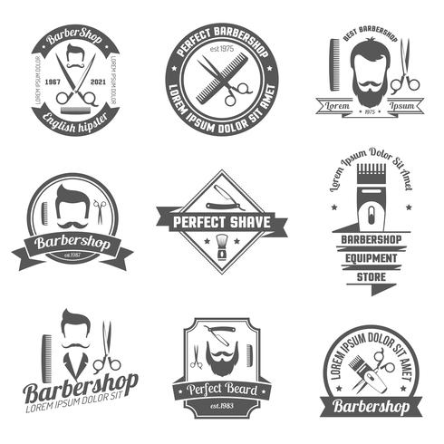Emblema del negozio di barbiere vettore