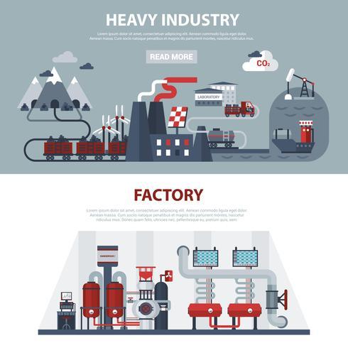 Banner di energia e industria vettore