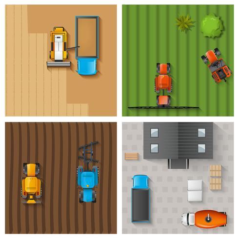 Set di lavoro agricolo vettore