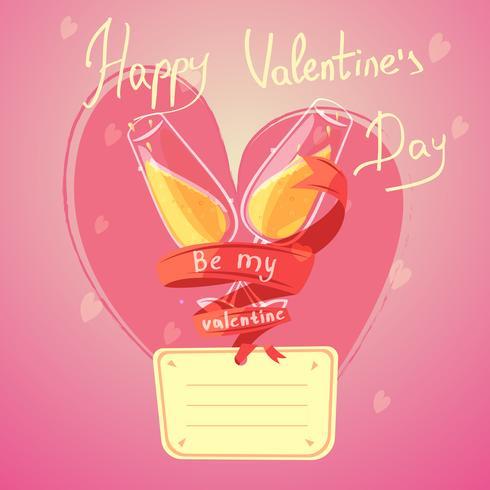 San Valentino giorno cartoon retrò vettore