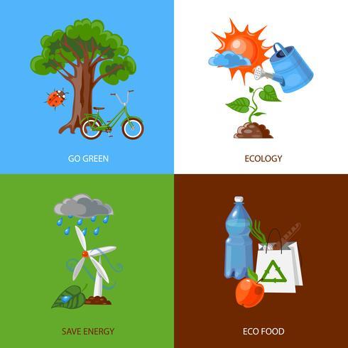 Concetto di design di ecologia vettore