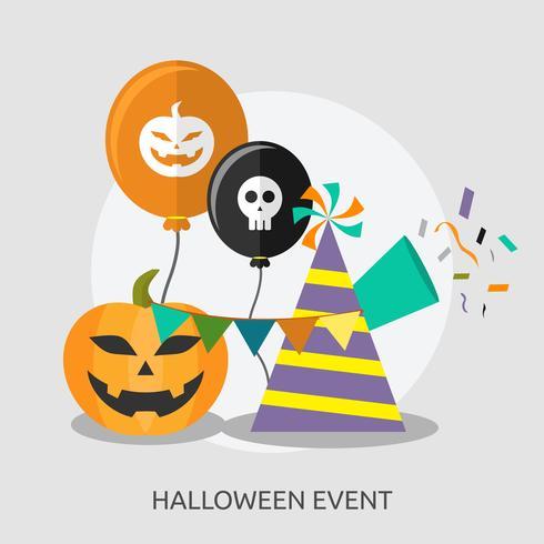 Disegno dell'illustrazione concettuale di evento di Halloween vettore