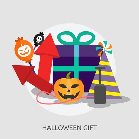 Progettazione concettuale dell'illustrazione del regalo di Halloween vettore