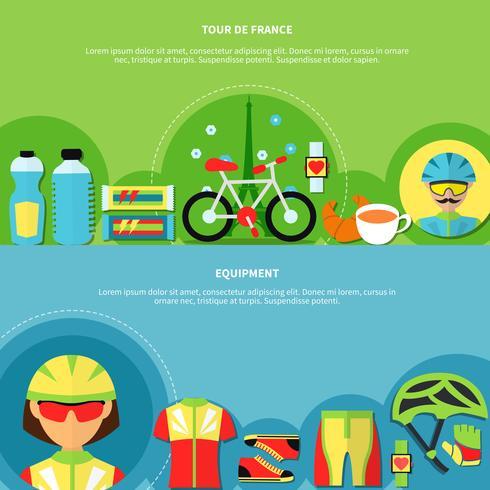 Set di banner bici vettore