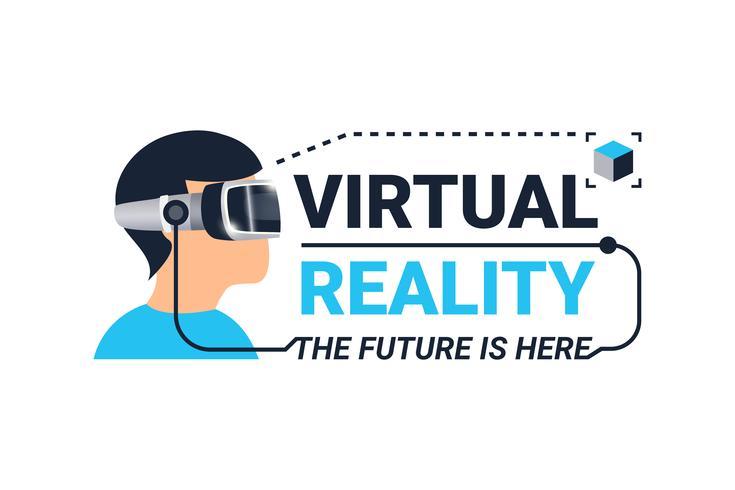 Logotipo di realtà virtuale vettore