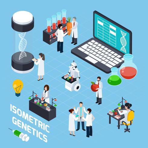 Composizione isometrica OGM vettore