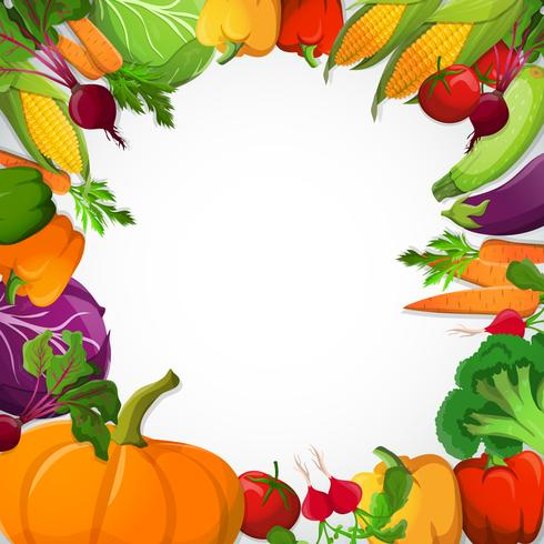 Cornice decorativa di verdure vettore