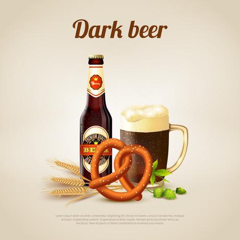 Sfondo di birra scura vettore