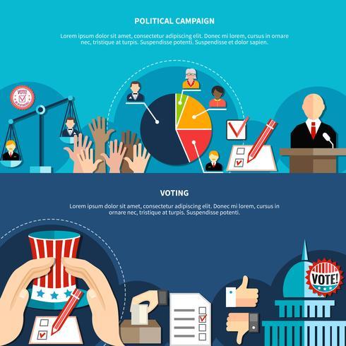 Concetto di elezioni governative vettore