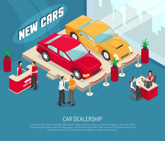 Composizione di leasing auto concessionaria vettore