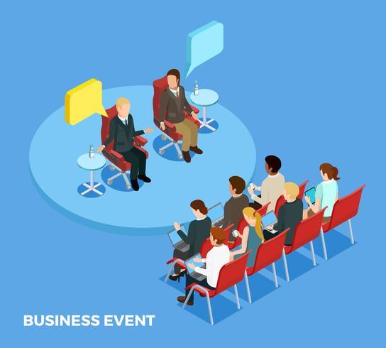 Modello isometrico di business coaching vettore