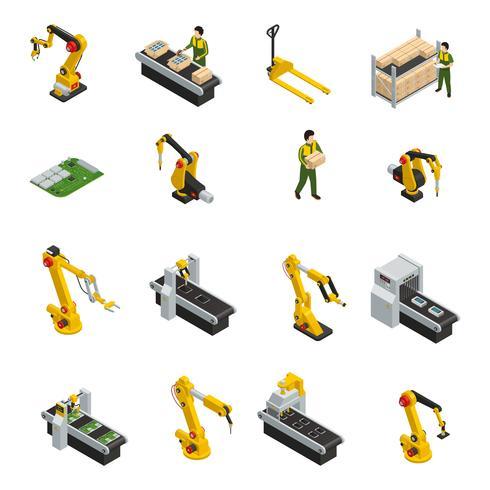 Simboli meccanici robotizzati vettore