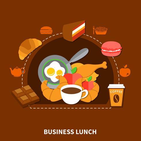 Poster del menu pranzo di fast food business vettore
