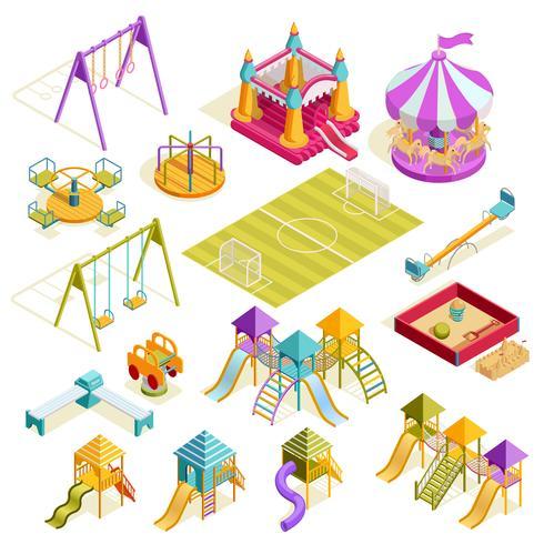 Collezione Isometrica Playground vettore