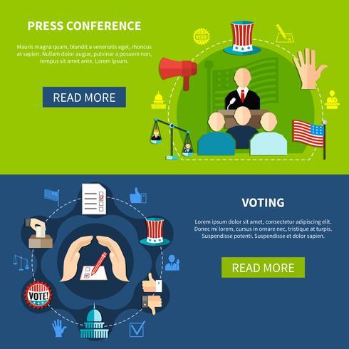 Concetto di conferenza stampa delle elezioni governative vettore