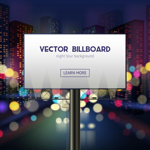 Modello di cartellone pubblicitario vettore