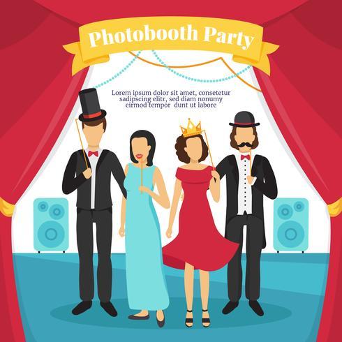 Illustrazione del partito di Photo Booth vettore
