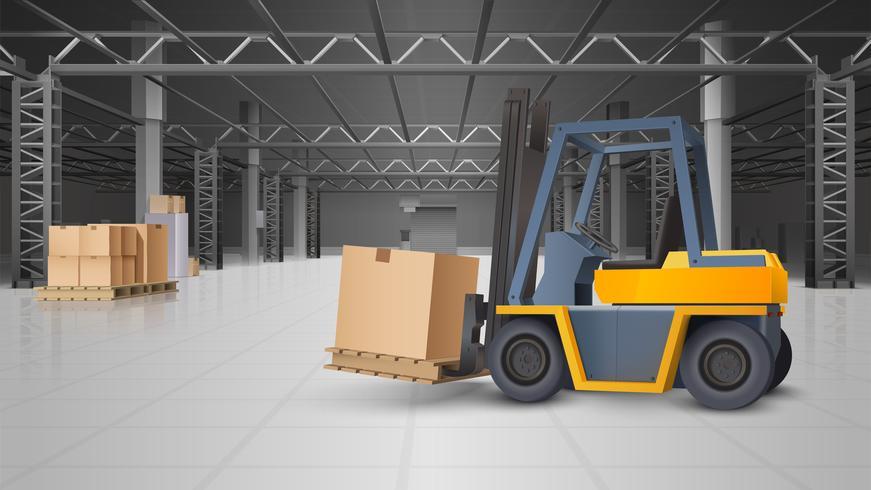 Fondo del magazzino e della logistica del magazzino vettore