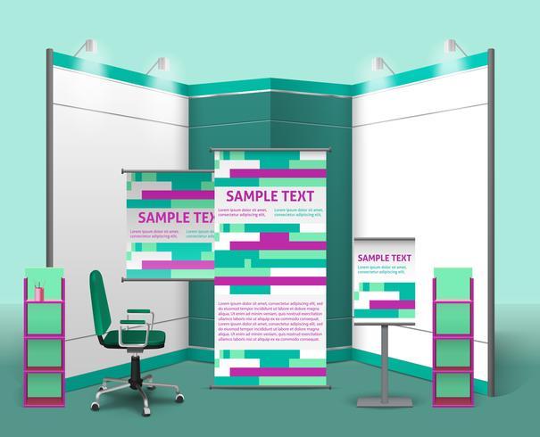 Modello di progettazione di stand espositivi vettore
