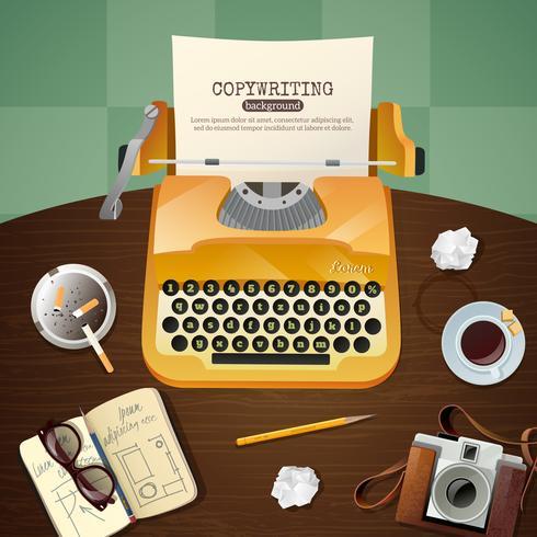 Illustrazione della macchina da scrivere dell'annata del giornalista vettore