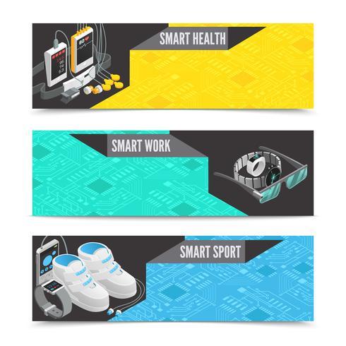 Banner di tecnologia indossabile vettore