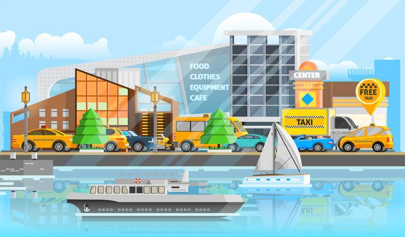 Modello di veicoli di taxi vettore