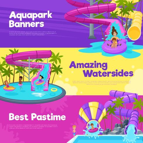 Bandiere orizzontali di Aquapark vettore