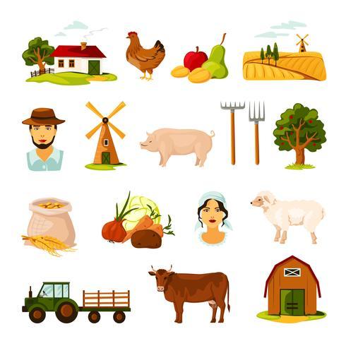 Set di fattoria vettore