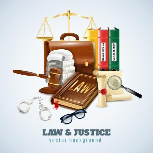 Poster di composizione di legge e ordine vettore