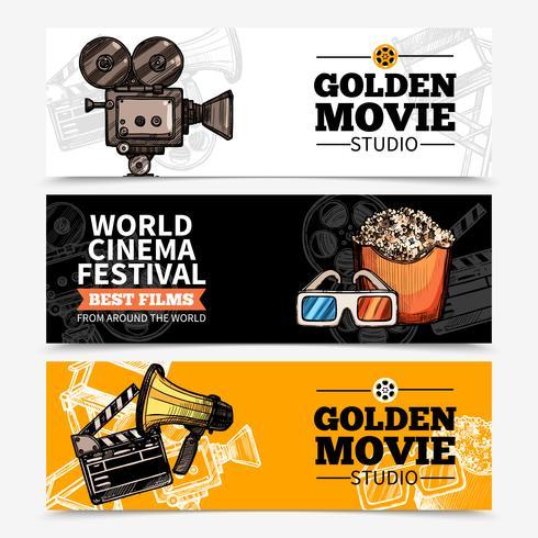 Banner orizzontale cinema vettore