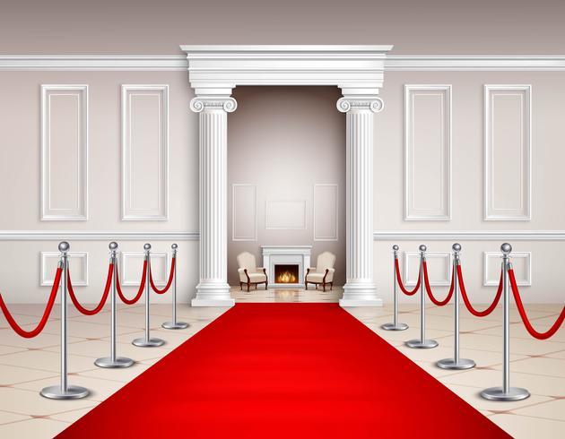 interno tappeto rosso vettore