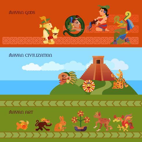 Set di banner di Maya vettore