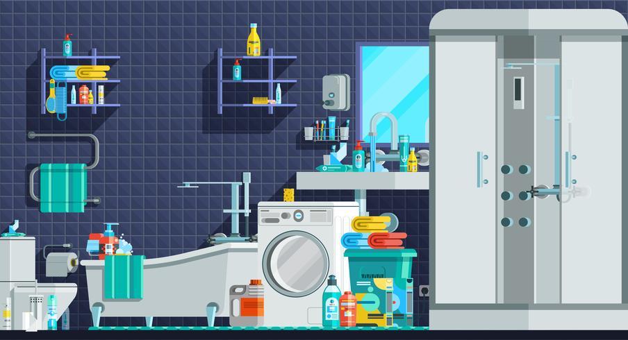 Icone di igiene Composizione piana ortogonale vettore