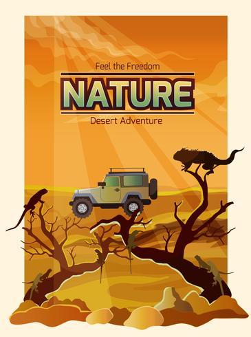 Paesaggio desertico Backround vettore