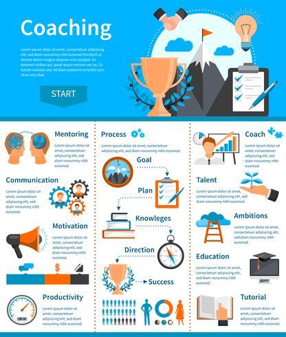 infografica di coaching di mentoring vettore