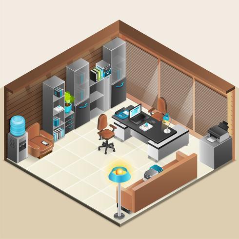 Design della stanza dell'ufficio vettore