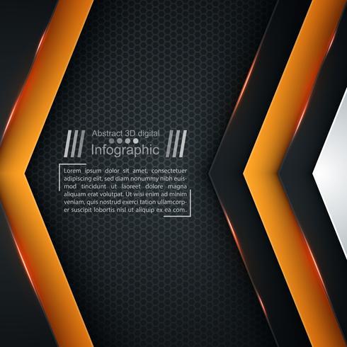 Modello di carta business - sfondo di origami. vettore