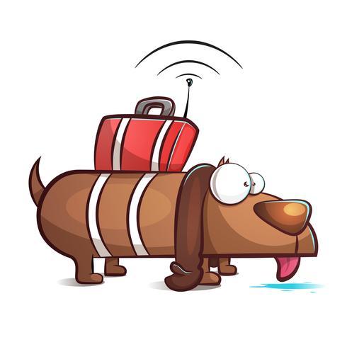 Cane spia - illustrazione di cartone animato. vettore