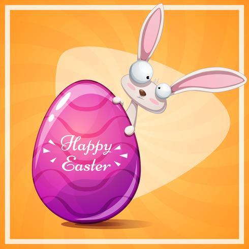 Simpatico coniglio Buona Pasqua vettore