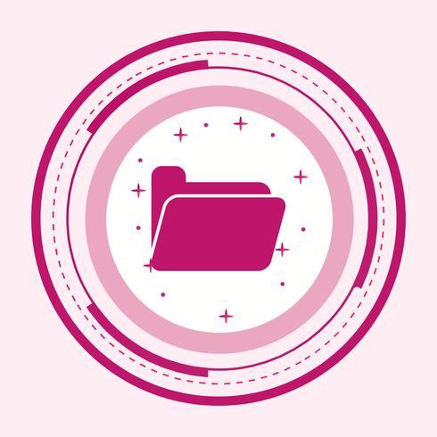 Cartella Icon Design vettore