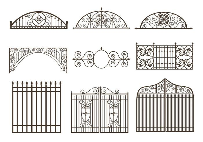 Gates and Fences Vector Pack