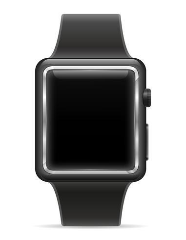 orologio digitale intelligente con illustrazione vettoriale stock touchscreen