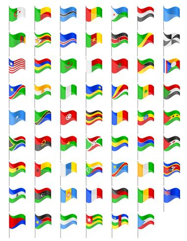 le bandiere dei paesi dell'Africa vector l'illustrazione