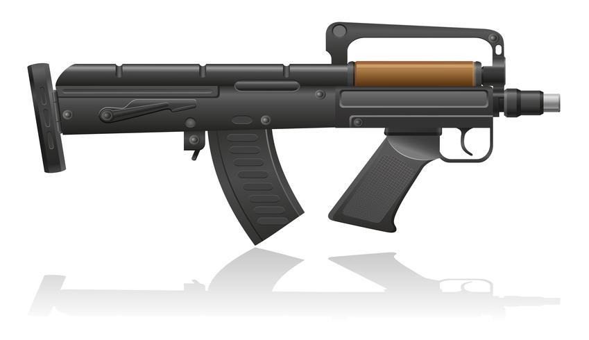 mitragliatrice con un'illustrazione di vettore di canna corta