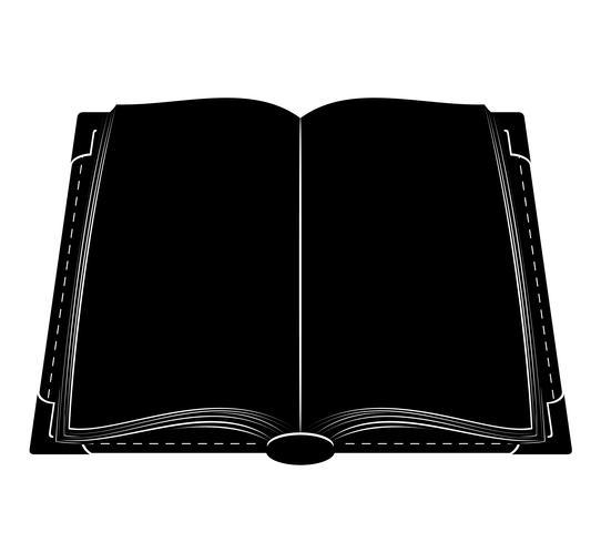 libro vecchio vintage retrò icona illustrazione vettoriali stock