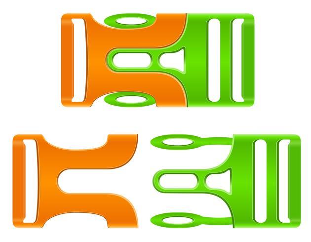 illustrazione vettoriale fibbia in plastica fibbia