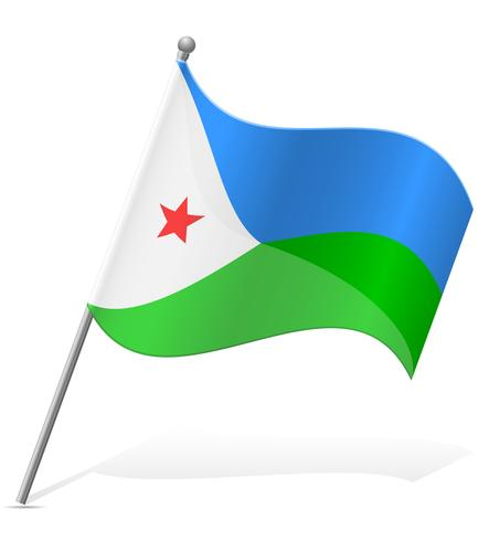 bandiera di Gibuti illustrazione vettoriale