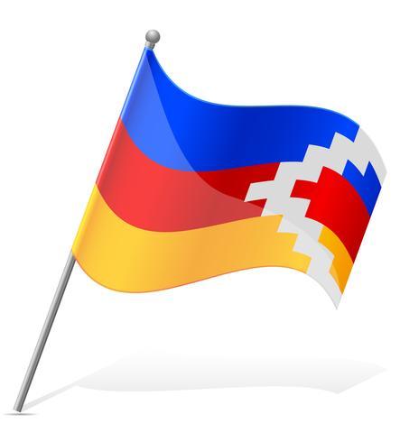 bandiera del Nagorno Karabakh Repubblica illustrazione vettoriale