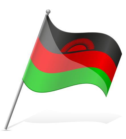 bandiera del Malawi illustrazione vettoriale