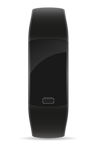 braccialetto di orologio fitness digitale intelligente con illustrazione vettoriale stock touchscreen